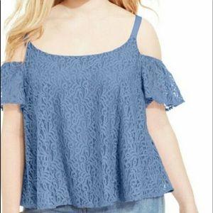Jessica Simpson cornflower blue top